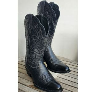 Ariat Women Heritage Black Boots Size 7.5